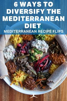The Mediterranean diet is known for its heart health benefits and focuses on fish, olive oil, whole grains and red wine. Part of what makes the Mediterranean diet one of the world's healthiest and most sustainable diets is that it's easy to modify the recipes with other cultural food flair. If you eat mainly fruits, vegetables, whole grains and healthy fats, and you eat seafood and poultry more often than red meat. Here are mediterranean recipes for a healthy well-balanced diet. Healthy Carbs, Healthy Eating, Healthy Recipes, Indian Food Recipes, Italian Recipes, Low Sugar Diet, Clean Eating Challenge, Cooking With Olive Oil, Vegan Nutrition