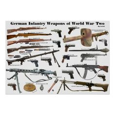 German Infantry Weapons of WW2 Posters