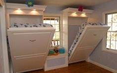 Murphy beds in the play room for sleepovers. This is genius - Click image to find more Home Decor Pinterest pins
