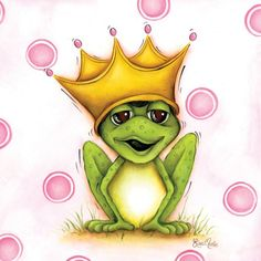Doesn't this frog art for girls just want to make you smile ?