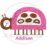<3 its a ladybug and it says addison