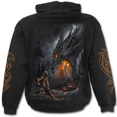 Dragon Slayer Hoody https://www.highvoltageclothing.com  #clothing #musthave #loveit #biker