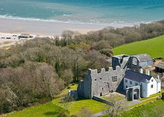 The 14th century Oxwich Castle - Gower, Wales