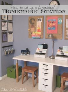 Create a fun and functional homework space for you kids!