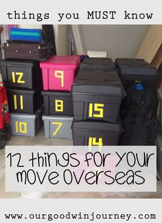 Top 12 Things to Know 12 Things you must do before moving overseas. a must read for expats, missionaries, military and other traveling Things you must do before moving overseas. a must read for expats, missionaries, military and other traveling families! Moving To Ireland, Moving To Italy, Moving To Hawaii, Moving To The Uk, Moving Tips, Moving To Scotland, Moving To China, Moving Hacks, Moving To Canada