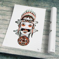 """Lamina """"Fuego"""" ARTISTA – Andrea Alonso SERIE – Tattoo flash #laminas #fuego #decoración"""