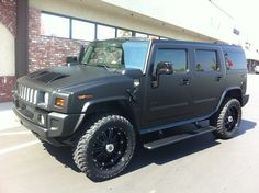 2008 H2 Hummer- matte black wrap with matching trim. Customers car*