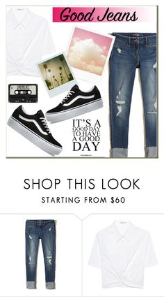 """""""Distressed Denim"""" by rocio-martinez-1 ❤ liked on Polyvore featuring Hollister Co., T By Alexander Wang, Vans, Polaroid and distresseddenim"""