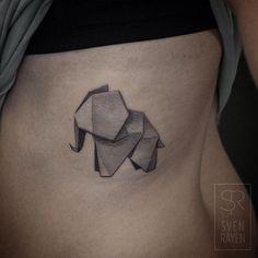 Adorabile geometrici tatuaggi animali di Sven Rayen