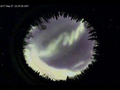 Auroras over North Pole, Alaska USA Sept 27-28, 2017