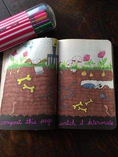 Wreck this journal ideas- compost this page. Watch it deteriorate. #wreckthisjournal #compost #art #inspiration