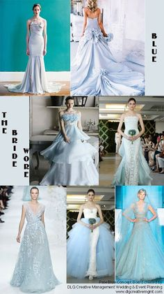 beautiful gowns in pale blue/ice blue/light blue