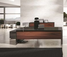 contemporary ceo office furniture | Gorgeous Massive Executive Desk for Modern Home Office Design