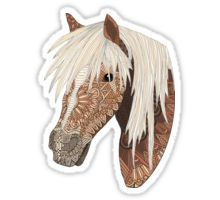 'Haflinger Horse' Sticker by artlovepassion - Products - Caballo Haflinger, Haflinger Horse, Horse Wallpaper, Cute Girl Wallpaper, Homemade Stickers, Diy Stickers, Sticker Ideas, Macbook Air Stickers, Tumblr Stickers
