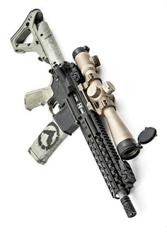 AR-15 with a lot of glass