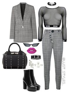 """""""Untitled #219"""" by smackthatash on Polyvore featuring Alexander Wang, Calvin Klein, Charlotte Russe, Lime Crime and Kenneth Jay Lane"""