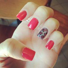 Spring acrylic nails -Madie Mindock