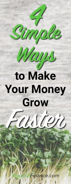 Make your money grow FAST with these 4 simple ways. Check out this guest post by ClubThrifty!
