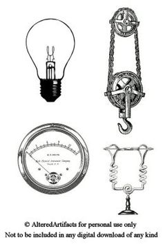 ALTERED ARTIFACTS: Printable Clipart Hot Air Balloon Steampunk