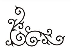 Stencil,Corner Border Floral Scroll design no. 2 flourish, wrought iron stencil, image is 5.5 x 8 inches. $7.95, via Etsy.