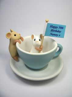 Nanny's Birthday Mice by QuernusCrafts
