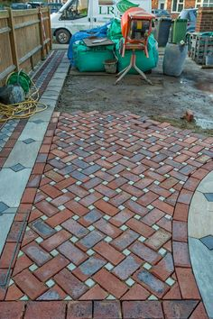 Concrete Patio Designs, Paver Designs, Backyard Patio Designs, Backyard Landscaping, Brick Paver Patio, Brick Garden, Brick Patios, Brick Bbq, Paving Design