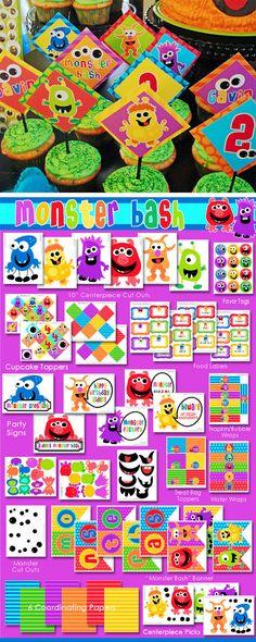 Monster Party Birthday  Monster Bash  HUGE by AmandasPartiesToGo, $29.00