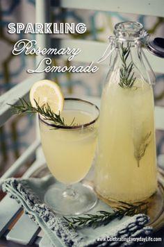 Sparkling-Rosemary-Lemonade Summer Drink www.uncommondesignsonline.com #BHGSummer