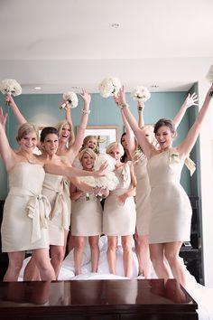 Bridesmaids' Dresses: @Jenny Yoo Collection via @Bella Bridesmaid / Photography by kristinvining.com