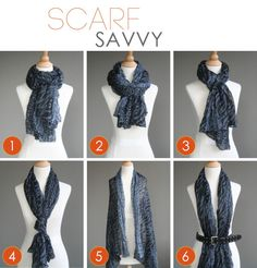 Simply wrap your scarf twice, tighter at the neck, and tie loosely. Fold your scarf in half, put the middle around your neck. Wrap t… Ways To Wear A Scarf, How To Wear Scarves, Diy Fashion, Fashion Outfits, Womens Fashion, Fashion Tips, Fashion Trends, Fall Fashion, Scarf Knots