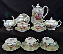 RS Prussia porcelain coffee and tea set from Germany