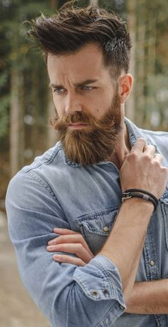Yea hunky men have a special beard style that best brings out their body strength and compliments the size. The garibaldi is a great beard style for bigger men and here is how you can master it. Mens Hairstyles With Beard, Haircuts For Men, Short Hairstyles For Men, Fall Hairstyles, Men's Hairstyle, Hairstyles 2018, Great Beards, Awesome Beards, Beard Styles For Men