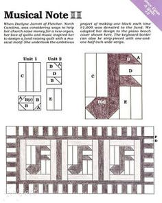 Musical-Note-Quilt-Block-Piano-Bench-Cover-quilt-sewing-pattern-templates