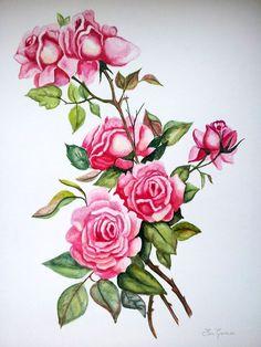 flores en acuarela - Buscar con Google