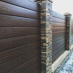 Home Decoration For Small House Key: 4476234169 Gate Wall Design, Front Wall Design, Wood Fence Design, Modern Fence Design, Privacy Fence Designs, Double Door Design, House Gate Design, Diy Backyard Fence, Garden Wall Designs