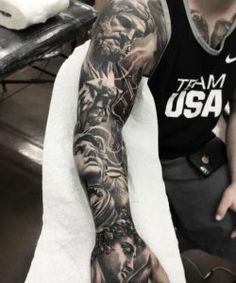 Blackwork sleeve by Fred Flores