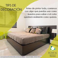 Antes de pintar cualquier espacio de tu #apartamento debes considerar la luz del mismo. #apartamentosborealtukana #estrenarapartamento #tipsdecoracion