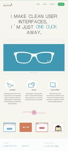 UI designer website using flat web design.