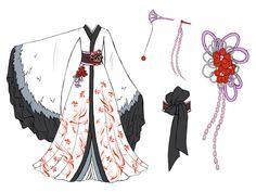 Crane dress design by Eranthe.deviantart.com on @deviantART Dream dress