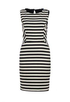Платье Sinequanone женское. Цвет: белый, черный. Сезон: Весна-лето 2014. С бесплатной доставкой и примеркой на Lamoda. http://j.mp/WN9PEt