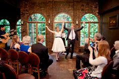 Real Weddings: Emily and Christopher's Fabulous New York Restaurant Wedding with 30 guests