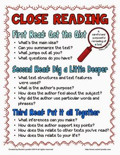 "Close reading is a big part of the Common Core and an important skill to master. This freebie includes a close reading poster, 3 graphic organizers (one for each read), and a set of 6 ""Talk Time"" discussion prompt cards. Reading Lessons, Reading Skills, Teaching Reading, Guided Reading, Reading Process, Reading Room, Teaching Tools, Math Lessons, Close Reading Poster"