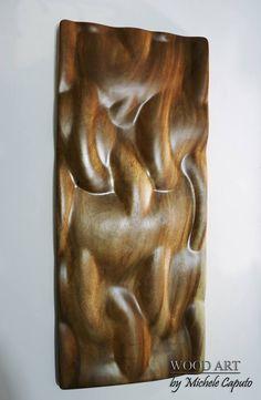 Título: Catene Técnica: Tallado en alto relieve sobre madera de campano. Dimensiones: 87 cm. de alto por 37 cm de ancho. $ 1.500.000 Pesos. Barranquilla. Colombia. Wood Art, Wood, Furniture, Wooden Art