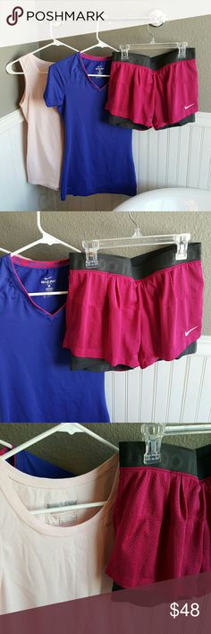 NWOT Nike Sports Bundle! Selling a NWOT Nike Sports Bundle! Both tops are size small as well as the shorts being size small. New, never worn! Nike Shorts