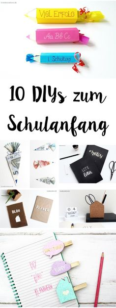 10 DIYs Back to School   10 DIYs zum Schulanfang