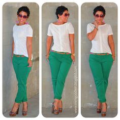 mimi g.: Gap Green Khaki's & DIY Top + Updates
