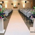 Pretty and Simple Wedding Aisle