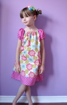 Ginger Blossom Peasant Dress  Spring '12