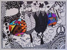 a faithful attempt: Black & White Doodle Design