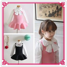 2015 Kids Girls New Cotton Tutu Dresses Princess Big Bow Space Cotton Patchwork Cute Party Ruffled Dress Long Sleeve Pretty Dress Online with $13.15/Piece on Smartmart's Store | DHgate.com